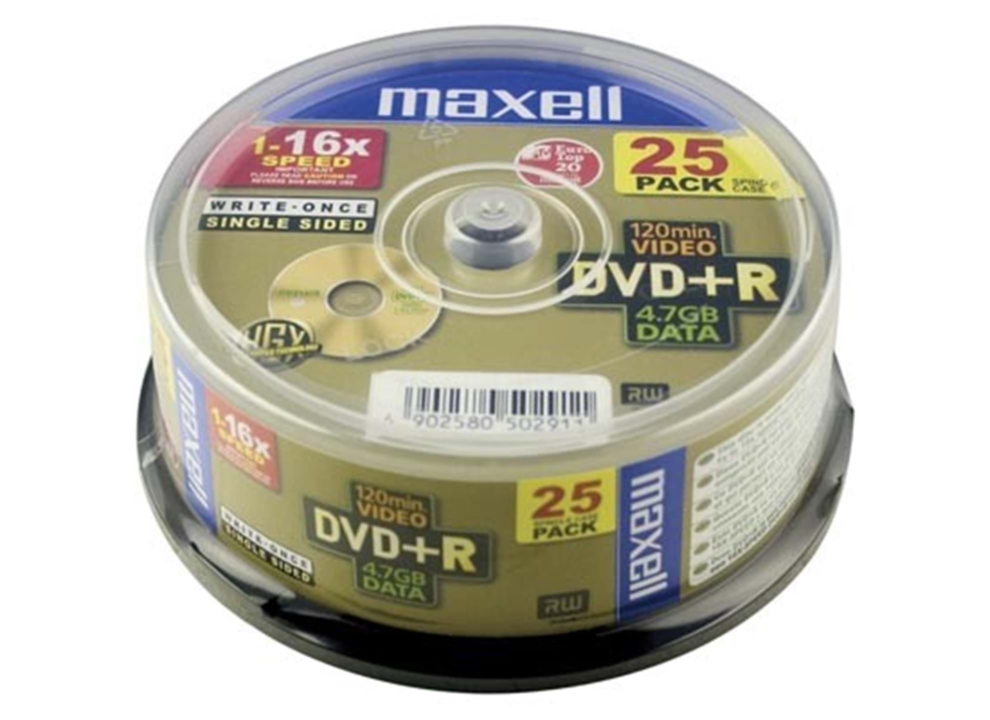DVD+R 50-pack spindel, 4,7GB data/120min video, 16x