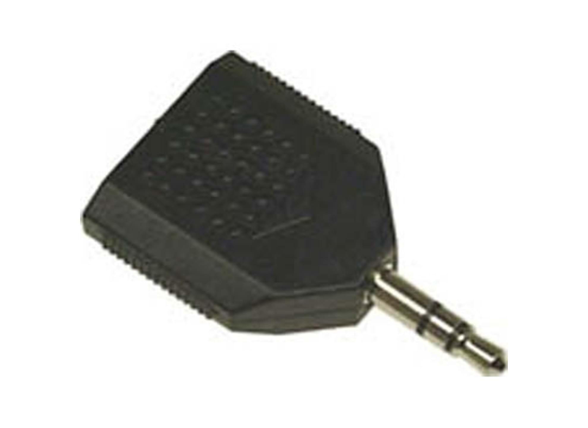 Multimedia-adapter Y-split 1x3,5mm till 2x3,5mm