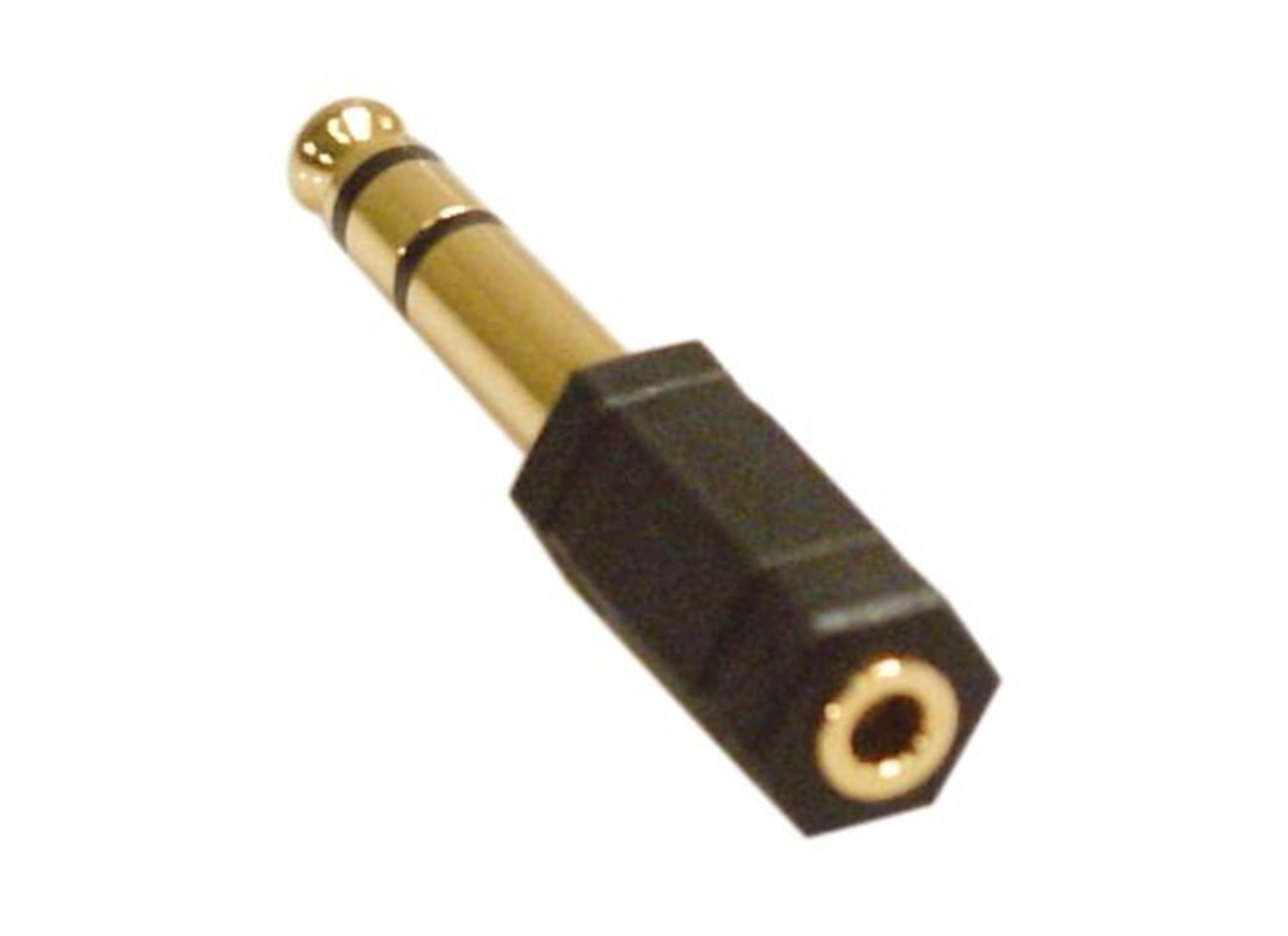 Multimediaadapter 6,3mm hane - 3,5mm stereo hona