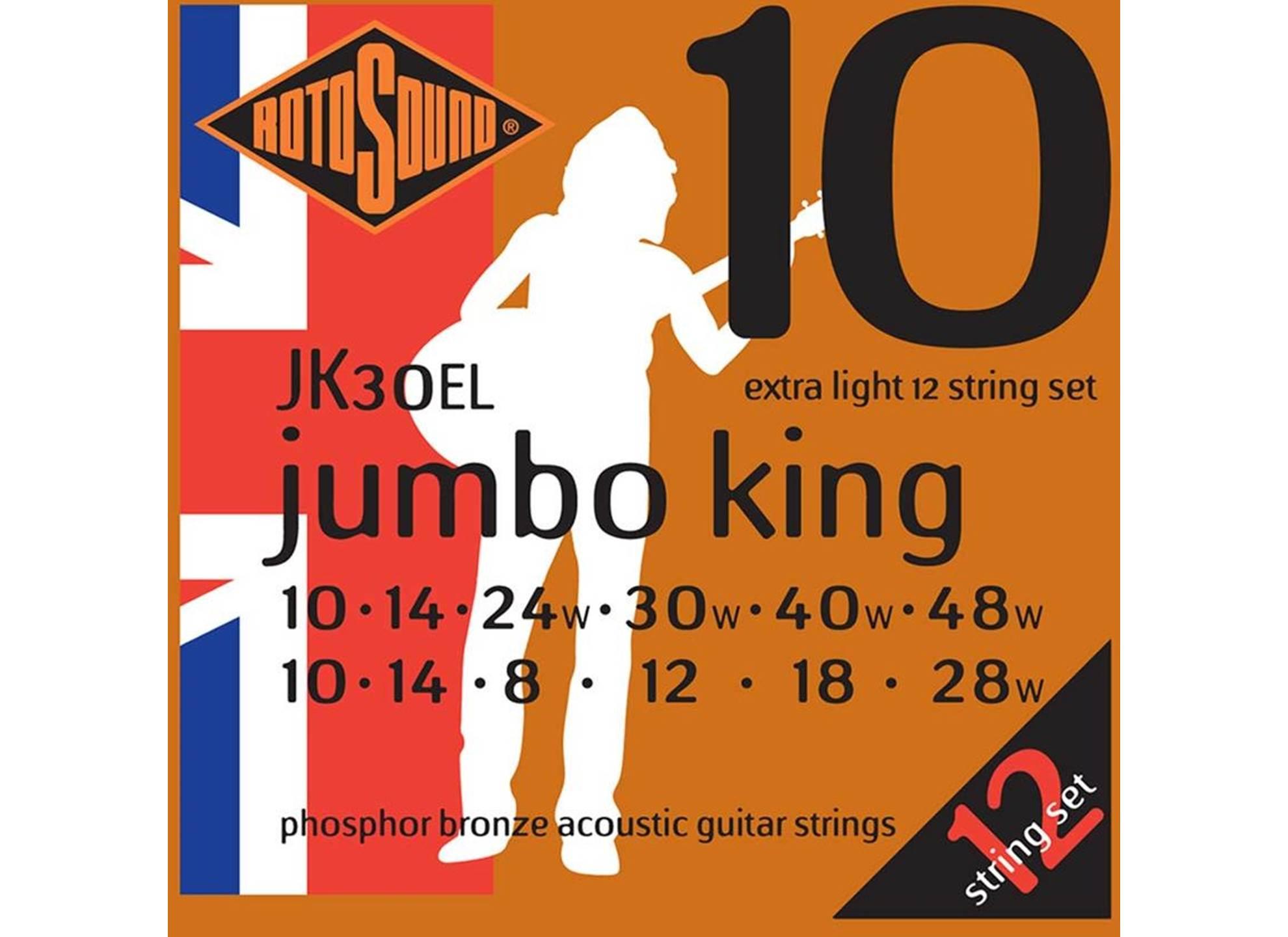 Jumbo King, Phosphor Bronze 10-48, 12-sträng