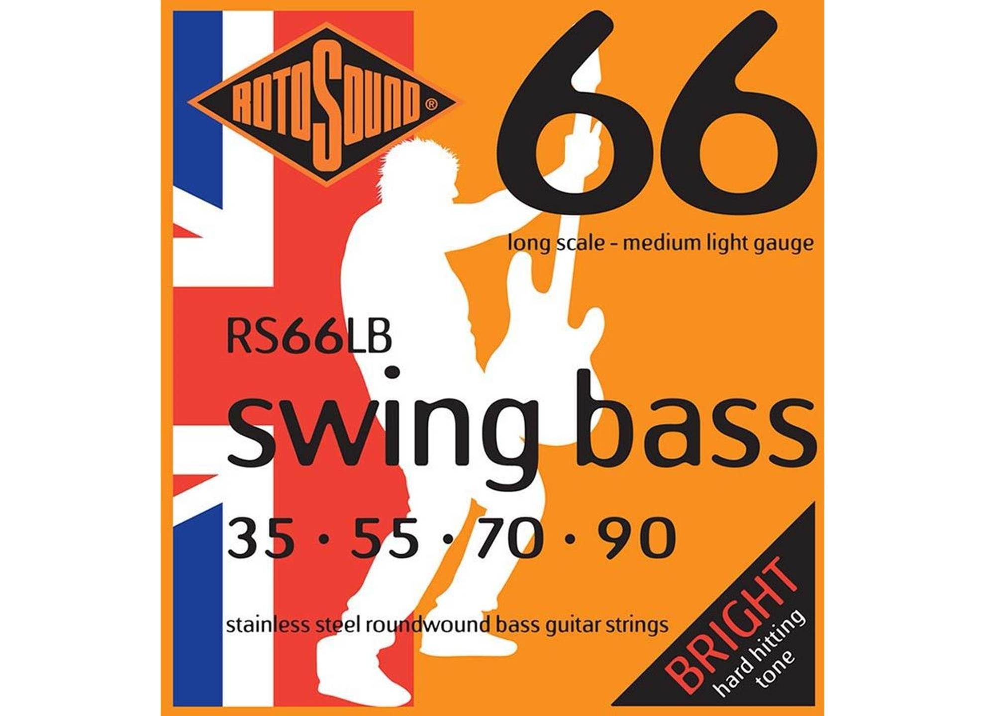 Swing Bass 66, Stainless Steel, Round Wound, 35-90