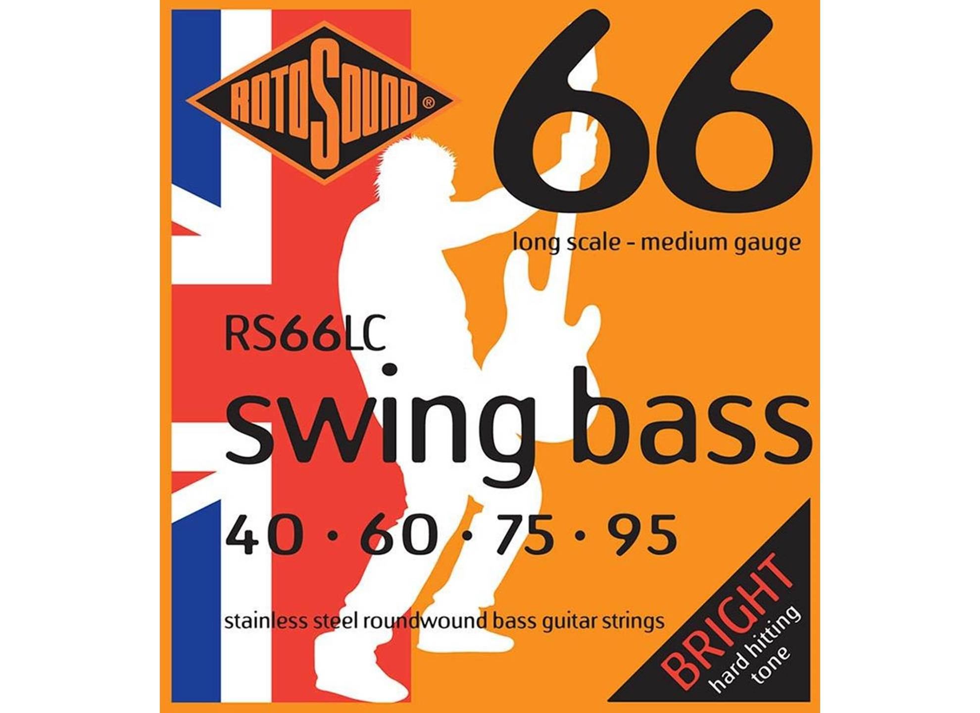 Swing Bass 66, Stainless Steel, Round Wound, 40-95