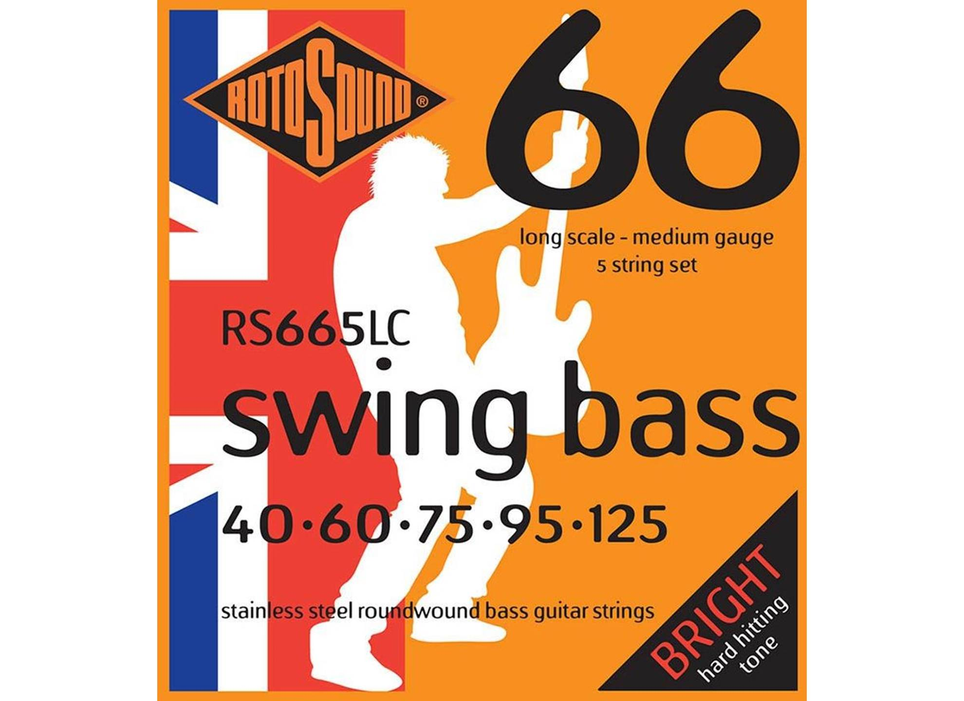 Swing Bass 66, Stainless Steel, Round Wound, 40-125