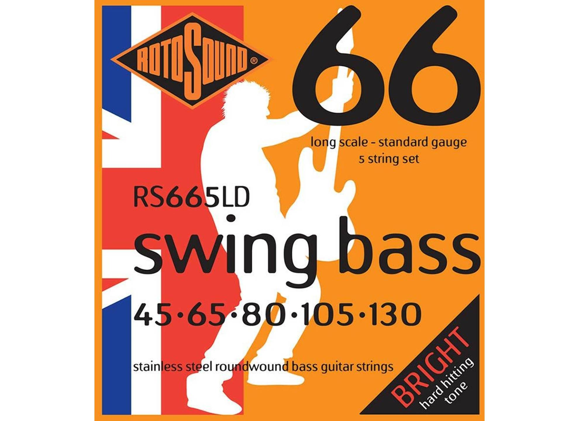 Swing Bass 66, Stainless Steel, Round Wound, 45-130