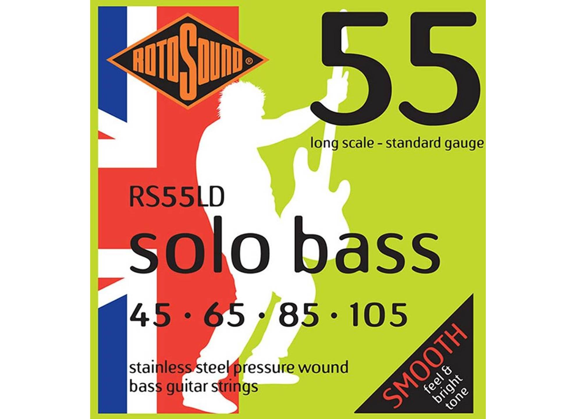Solo Bass 55, Stainless Steel, Pressure Wound, 45-105