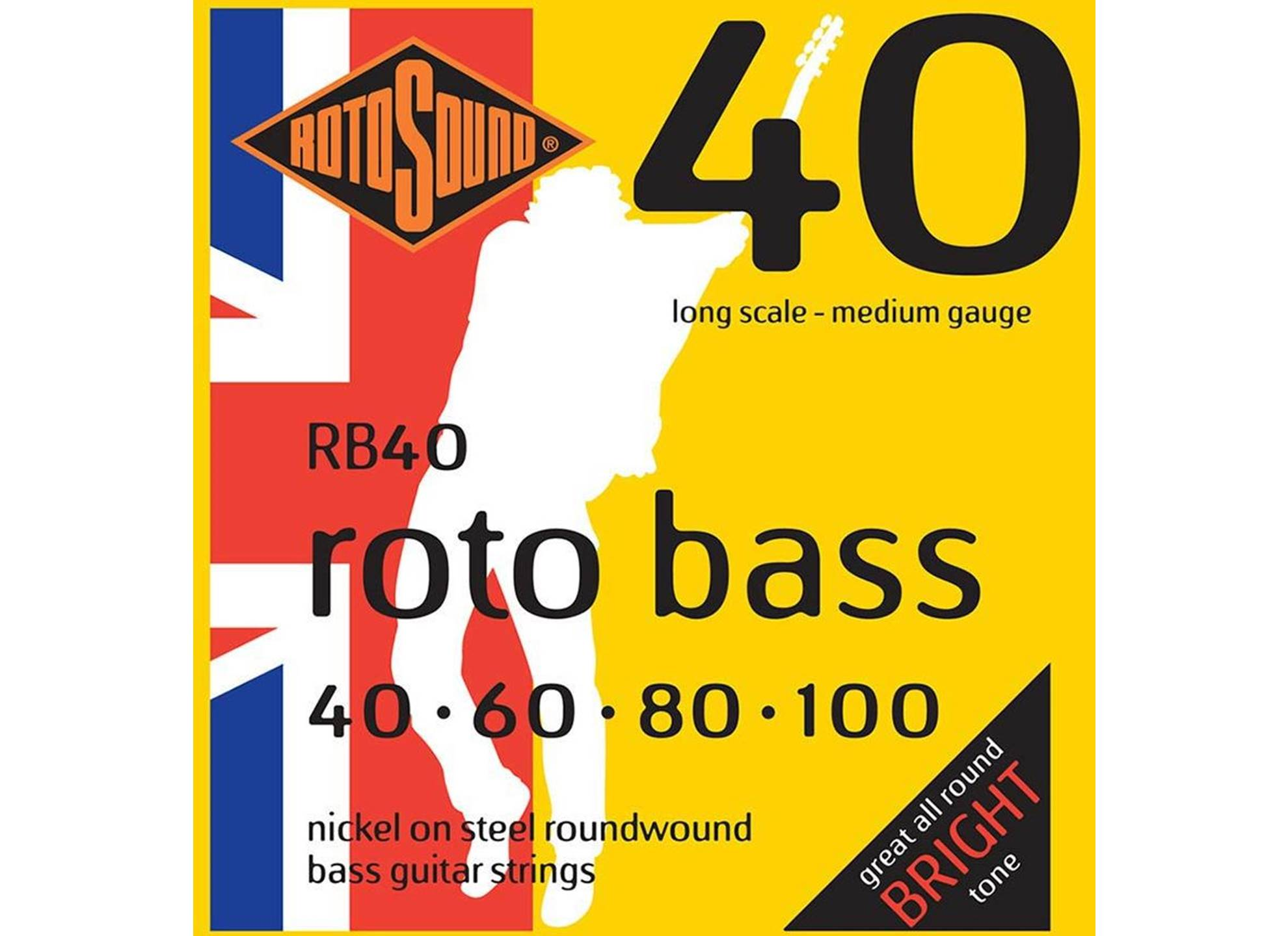 Roto Bass, Nickel Roundwound, 40-100