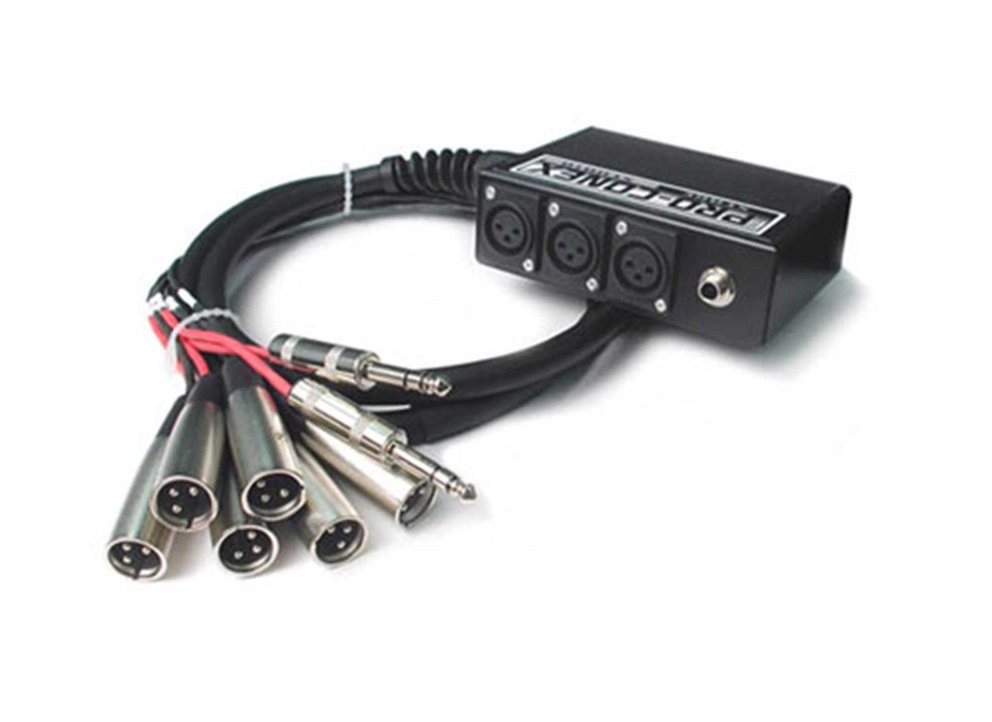 SH6x2-30 Stagebox 6 XLR och 2 TRS 9m