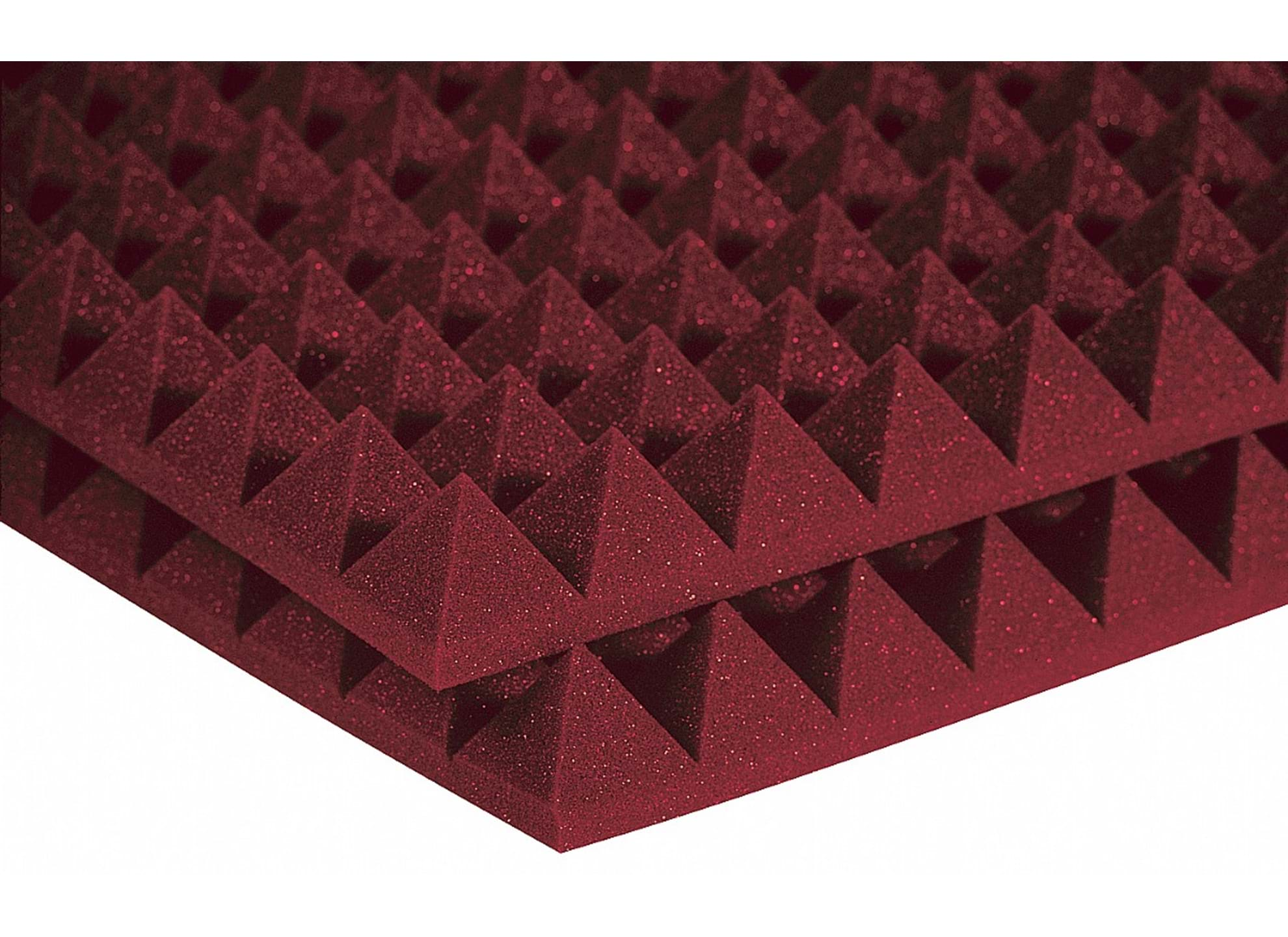 Studiofoam Pyramids Burgundy 2-tum halvskiva