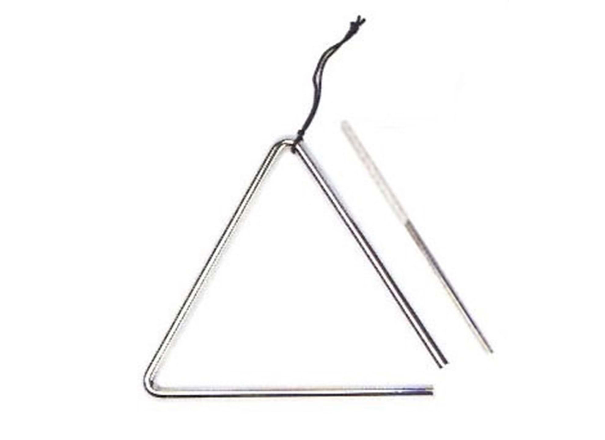 Triangel med snöre och slagpinne, 7 tum