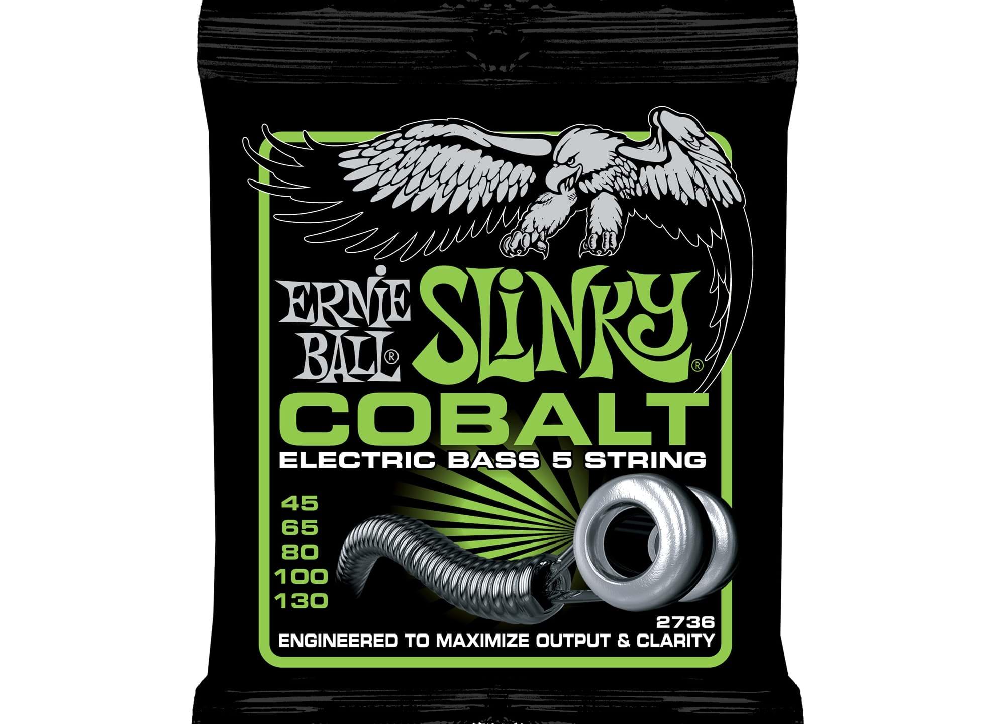 045-130 Regular Slinky Bass 5-string Cobalt 2736