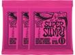 009-042 Super Slinky 3-pack Nickel Wound 3223