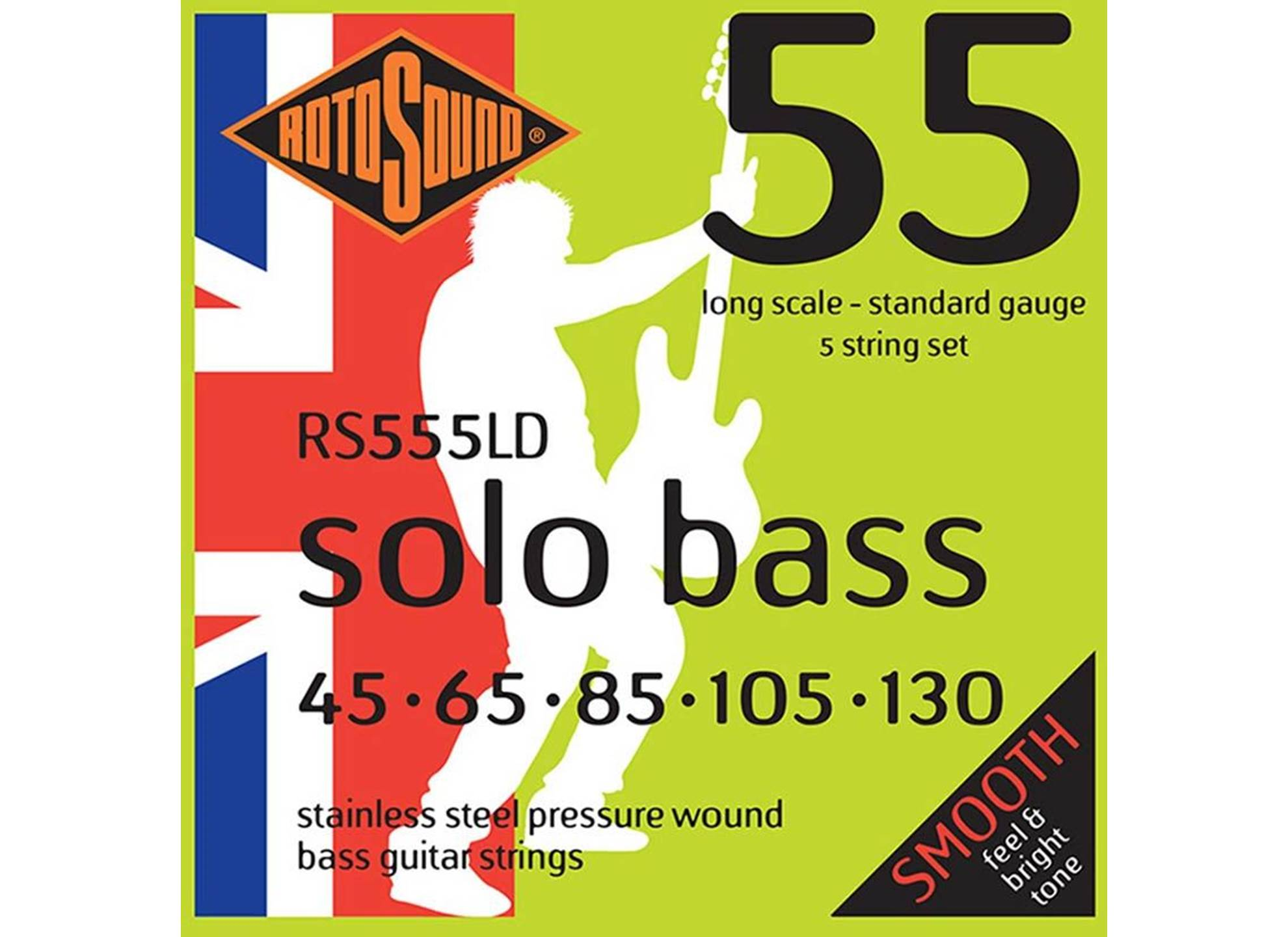 Solo Bass 55, Stainless Steel, Pressure Wound, 45-130