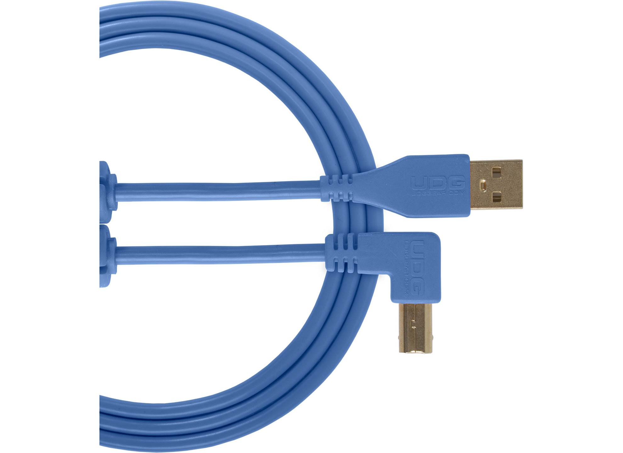 Ultimate USB 2.0 A-B Blue Angled 1m